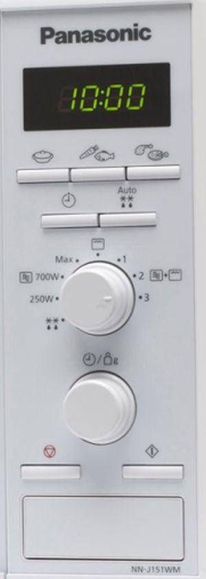 Panasonic NN-J151WMEPG pulsanti e manopole