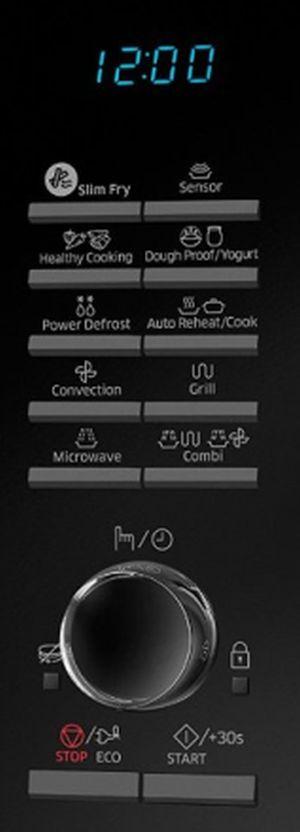 Samsung MC28H5135CK pulsanti e manopola